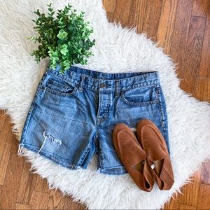 LOFT Boyfriend Distressed Shorts | Size 2